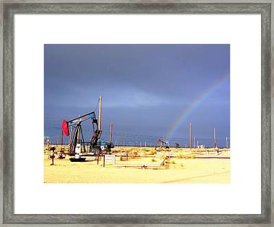 Framed Print featuring the photograph Cymric Field Rainbow by Lanita Williams