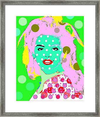 Cyndi Crawford Framed Print by Ricky Sencion