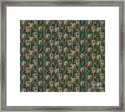 Cynthie Deer Bedding Framed Print