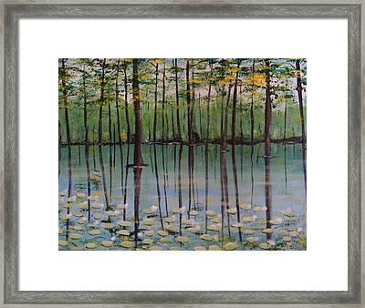 Cypress Garden Framed Print by Richard Goohs