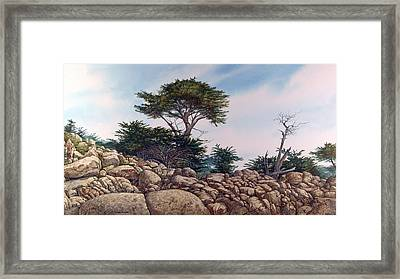 Framed Print featuring the painting Cypress Garden by Tom Wooldridge