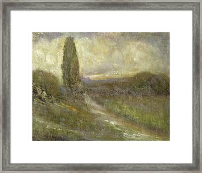 Cypress Landscape Framed Print