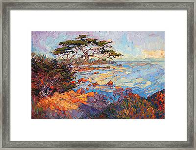 Framed Print featuring the painting Cypress Mosaic by Erin Hanson