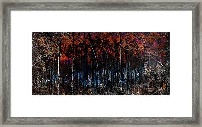 Cypress Swamp Abstract #1 Framed Print
