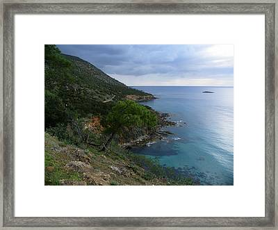 Cyprus Coastline Framed Print by Noreen HaCohen