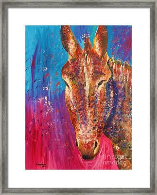 Cyprus Donkey Framed Print by Anastasis  Anastasi