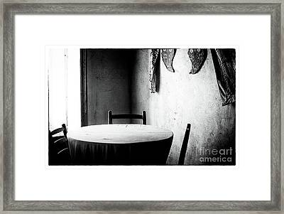 Cyprus Table Framed Print by John Rizzuto