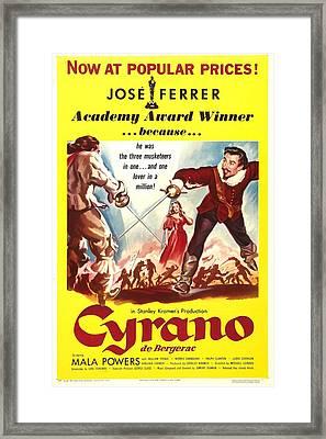 Cyrano De Bergerac, Us Poster, Jose Framed Print by Everett