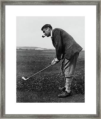 Cyril Tolley Playing Golf Framed Print