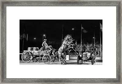 Cyrus Avery Centennial Plaza Framed Print by JC Findley