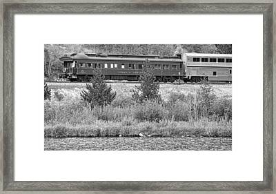Cyrus K  Holliday Private Rail Car Bw Framed Print by James BO  Insogna