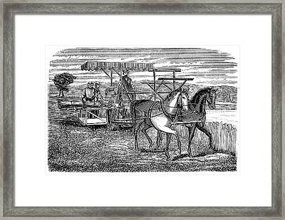 Cyrus Mccormick's Reaper And Binder Framed Print by Universal History Archive/uig