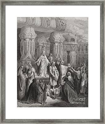 Cyrus Restoring The Vessels Of The Temple Framed Print