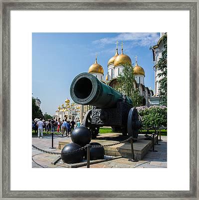 Czar Cannon Of Moscow Kremlin - Square Framed Print by Alexander Senin