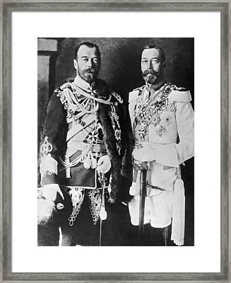 Czar Nicholas And King George V Framed Print