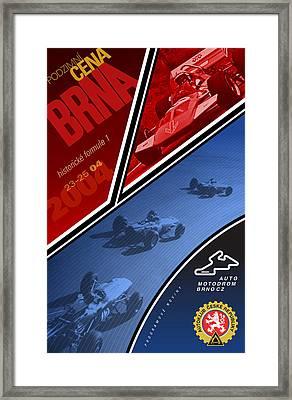 Czech Republic Historic Grand Prix Framed Print by Georgia Fowler