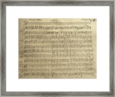 Czech Republic Prague Symphony No. 38 In D Major Called Prague Symphony Framed Print by Wolfgang Amadeus Mozart