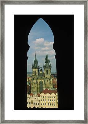 Czech Republic, Prague, View Of Tyn Framed Print