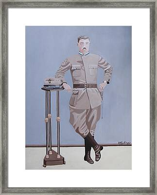 Czech Soldier Framed Print by Anthony Morris