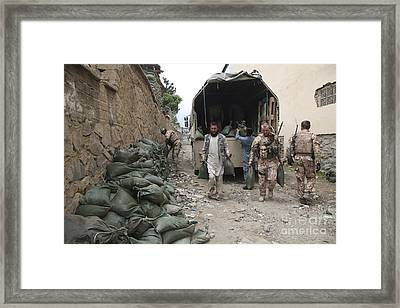 Czech Soldiers And Afghan Uniform Framed Print