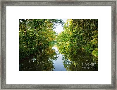 D And R Canal  Framed Print by Debra Fedchin