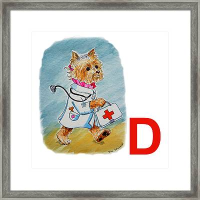 D Art Alphabet For Kids Room Framed Print by Irina Sztukowski