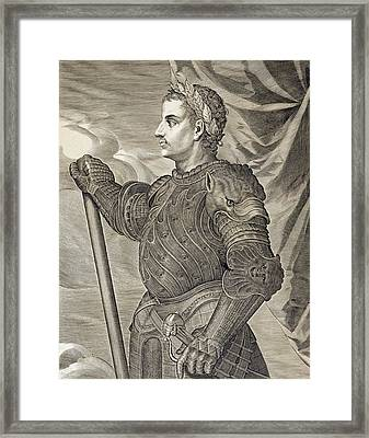 D. Claudius Caesar Emperor Of Rome Framed Print by Titian