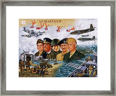 D Day 6th Of June Framed Print by Dick Bobnick