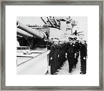 D-day Inspection Framed Print by Underwood Archives