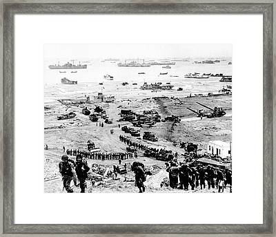D-day Landings Beachhead Framed Print by Us Army
