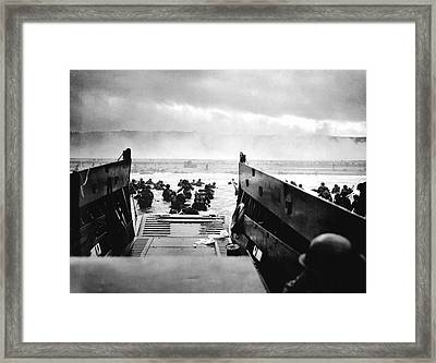 D-day Landings Framed Print
