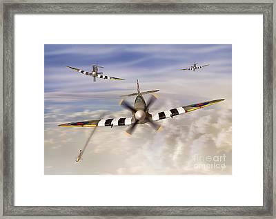 D-day Spitfires Framed Print