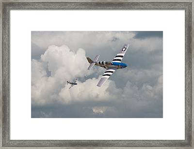 D-day Mustangs Framed Print by Pat Speirs