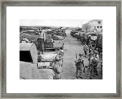 D-day Preparation Framed Print by Underwood Archives