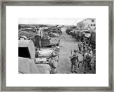 D-day Preparation Framed Print