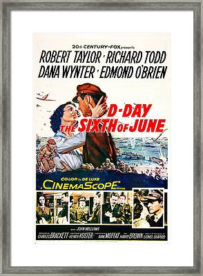 D-day The Sixth Of June, Us Poster Framed Print