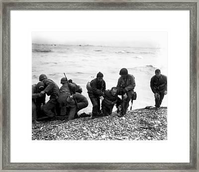 D-day Wounded Framed Print
