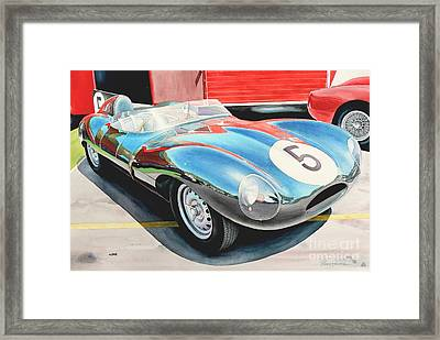D Type Framed Print