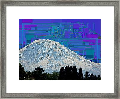 Da Mountain Cubed 1 Framed Print