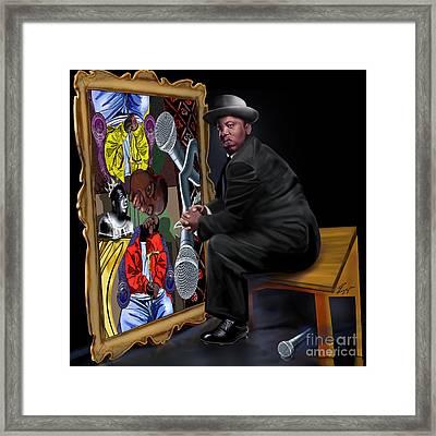 Da Picasso N Biggie  Framed Print by Reggie Duffie