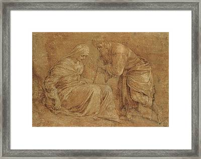 Da Ponte Jacopo Know As Bassano, Judas Framed Print by Everett