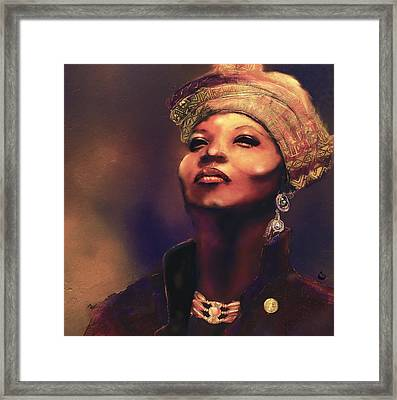 Da Queen Framed Print