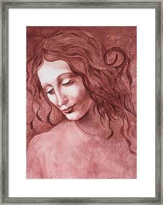 da Vinci La Scapigliata Framed Print