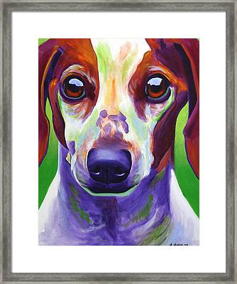 Dachshund - Cooper Framed Print by Alicia VanNoy Call