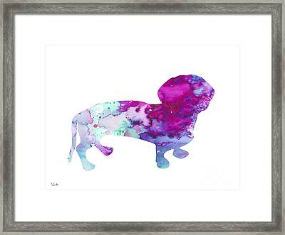 Dachshund 2 Framed Print by Luke and Slavi