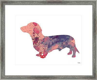 Dachshund 3 Framed Print by Luke and Slavi
