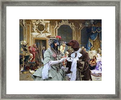 Dachshund Art - Royal Party Framed Print