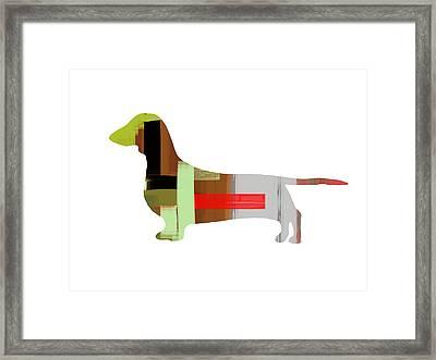 Dachshund Framed Print by Naxart Studio