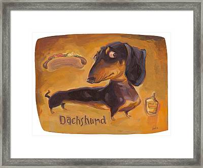 Dachshund Much More Than A Hot Dog Framed Print by Shawn Shea