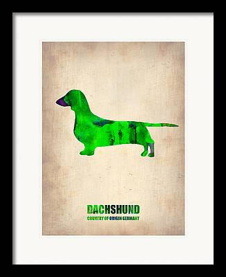 Dachshund Art Digital Art Framed Prints